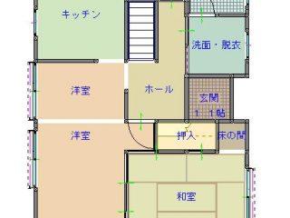渡邊邸間取り図(1F)