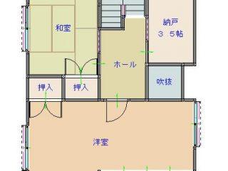 渡邊邸間取り図(2F)